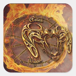 Sticker Carré Bélier horoscope du 21 mars jusqu'au 20 avril