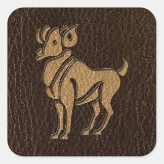 Sticker Carré Bélier simili cuir