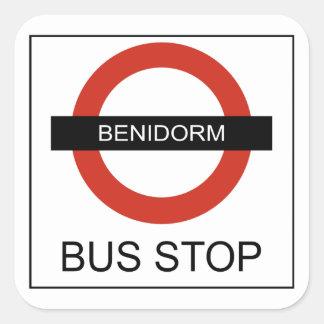 Sticker Carré Benidorm Bus Stop