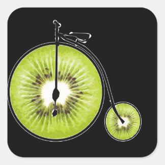 Sticker Carré Bicyclette de kiwi