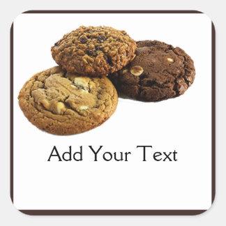 Sticker Carré Biscuits et d'autres desserts délicieux sur le