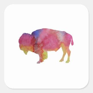 Sticker Carré Bison