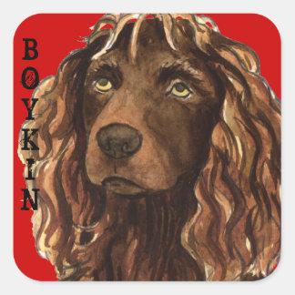 Sticker Carré Bloc de couleur d'épagneul de Boykin