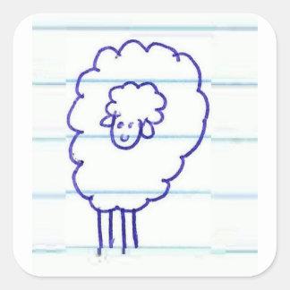 Sticker Carré Bob les moutons seuls