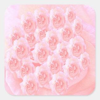 Sticker Carré Bouquet léger de rose rouge d'ombre