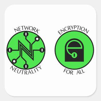 Sticker Carré Bouton net de neutralité
