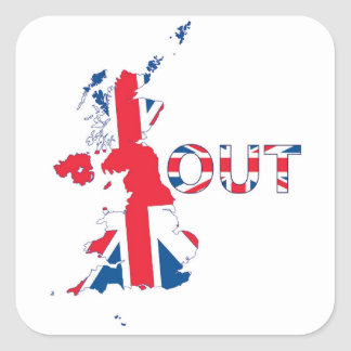 STICKER CARRÉ BREXIT UNION JACK