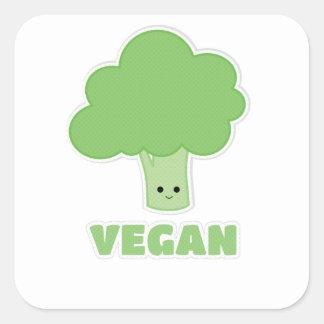 Sticker Carré Brocoli végétalien