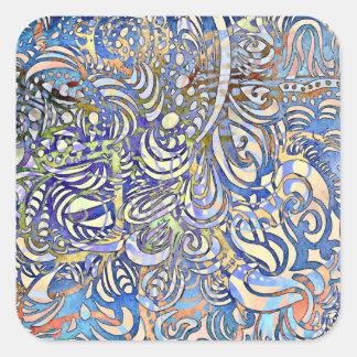 Sticker Carré Cadeau d'art par l'autisme