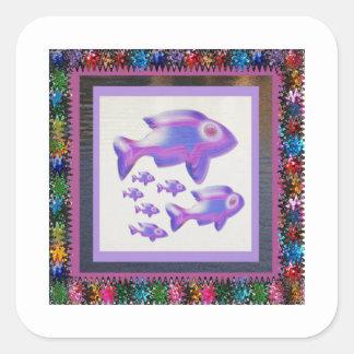 Sticker Carré CADEAUX d'amusement de pièce d'ENFANTS de