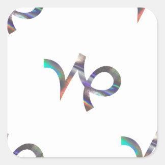 Sticker Carré Capricorne d'hologramme
