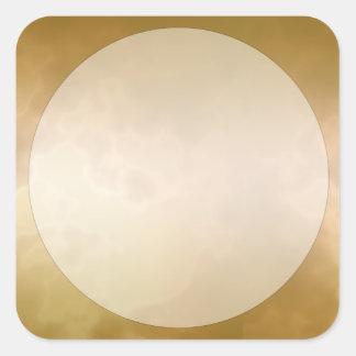 Sticker Carré Carré d'autocollant d'étiquette de marbre d'or
