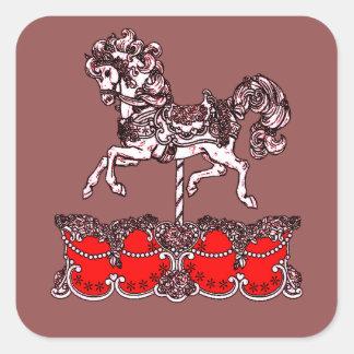 Sticker Carré Carrousel