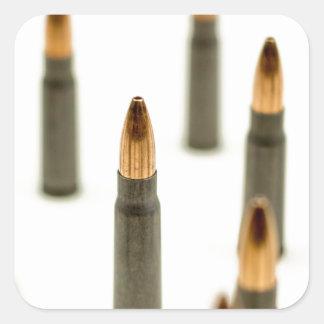 Sticker Carré Cartouche 7.62x39 d'AK47 de balle de munitions