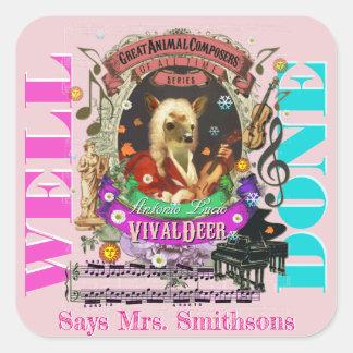 Sticker Carré Cerfs communs de Vivaldi d'autocollants de
