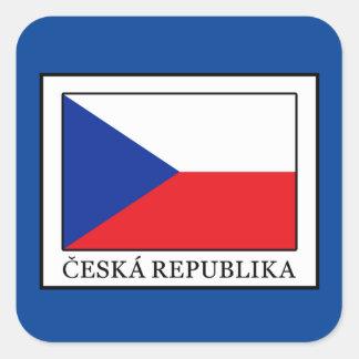 Sticker Carré Ceska Republika