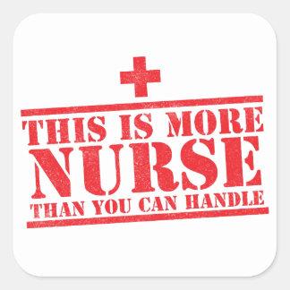 Sticker Carré c'est plus d'infirmière que vous pouvez manipuler