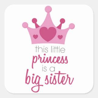 Sticker Carré Cette petite princesse est la grande soeur