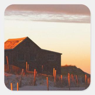 Sticker Carré Chambre au coucher du soleil - 1