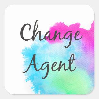Sticker Carré Changez l'agent