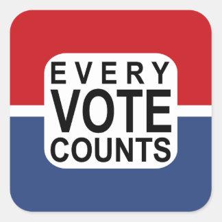 Sticker Carré Chaque vote compte l'autocollant