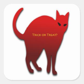 Sticker Carré Chat de des bonbons ou un sort