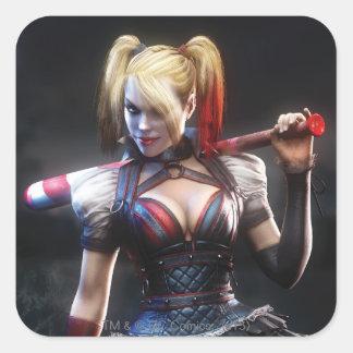 Sticker Carré Chevalier de Batman Arkham | Harley Quinn avec la