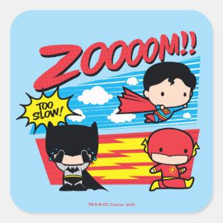 Sticker Carré Chibi Batman trop lent !