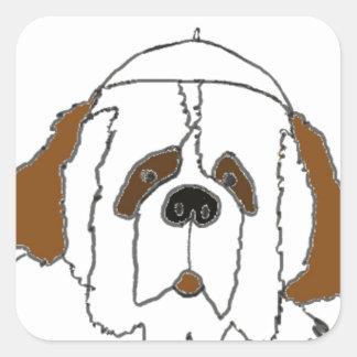 Sticker Carré Chiot Francis pour de petits articles