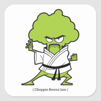 Sticker Carré Choppin_Brocco_Lee_Tee