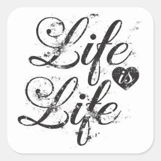Sticker Carré Citation vintage d'autocollants au sujet de la vie