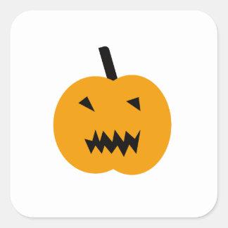 Sticker Carré Citrouille de Halloween