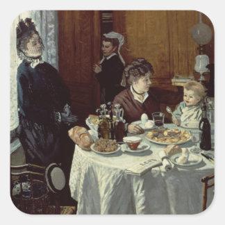 Sticker Carré Claude Monet   le petit déjeuner
