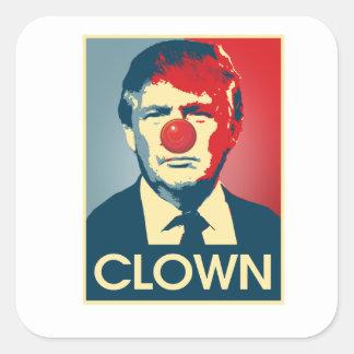 Sticker Carré CLOWN de Donald Trump -- Anti-Atout 2016 -