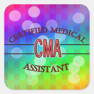 Sticker Carré CMA a certifié le LOGO d'aide médical