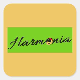 Sticker Carré Coccinelle Harmonia zen