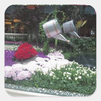 Sticker Carré Coccinelles de parc de papillon de Las Vegas du