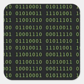 Sticker Carré Code binaire