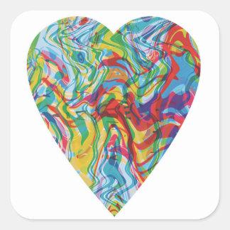 Sticker Carré Coeur #2 d'art de problème