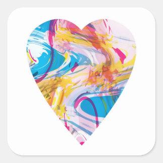 Sticker Carré Coeur d'art de problème