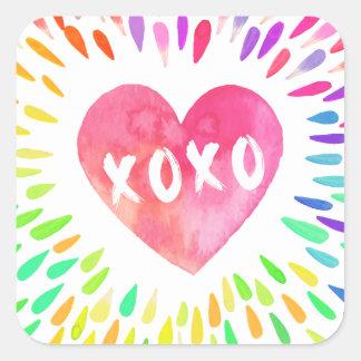 Sticker Carré Coeur de XoXo