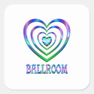 Sticker Carré Coeurs de salle de bal