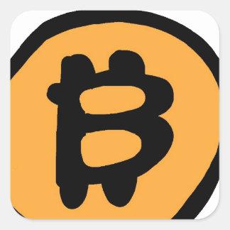 Sticker Carré collection de bitcoin