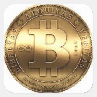 Sticker Carré Colles Bitcoin