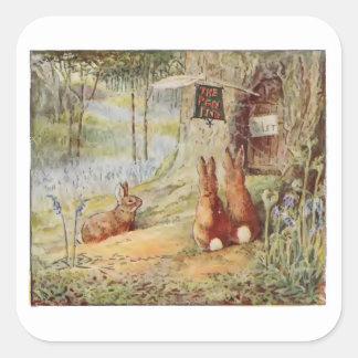 Sticker Carré Comptines du persil de Cecily par Beatrix Potter