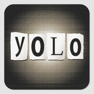 Sticker Carré Concept de YOLO