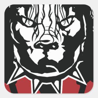 Sticker Carré conception de Jackson de mine mignonne