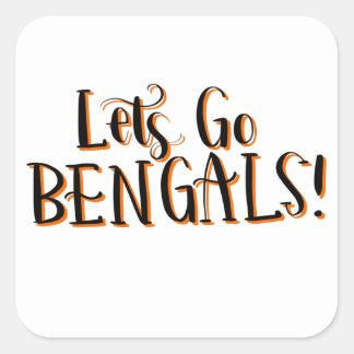 Sticker Carré Copie de Bengals