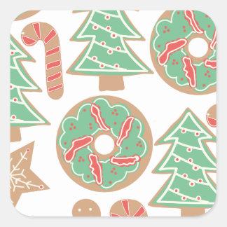 Sticker Carré Copie de cuisson de Noël