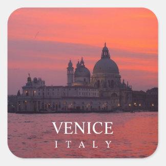 Sticker Carré Coucher du soleil à Venise